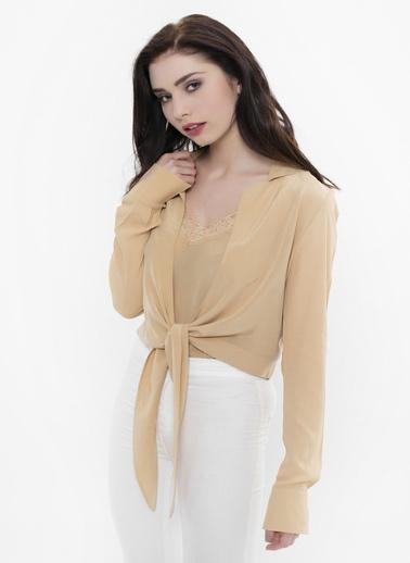 Silk and Cashmere Gömlek Altın